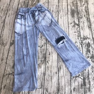 💎 Under Disguise Faux Jeans Pajama Pants S/M